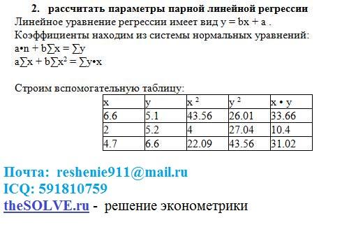задачи по эконометрике с решением: